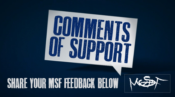 MSF Feedback: Comments of Support